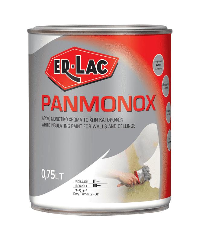 ER-LAC PANMONOX Λευκό μονωτικό χρώμα τοίχων και οροφών