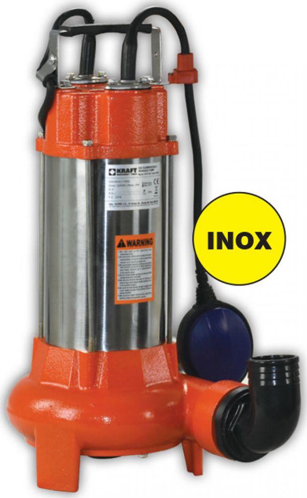 Kraft: Αντλία Λυμάτων Inox με Κοπτήρα 1100W (63556)
