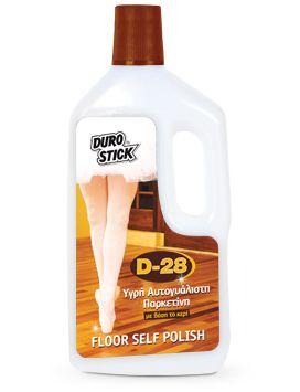 DUROSTICK  D-28 Αυτογυάλιστη Παρκετίνη Ξύλινων Δαπέδων και Παρκέ Διαρκείας 3lt