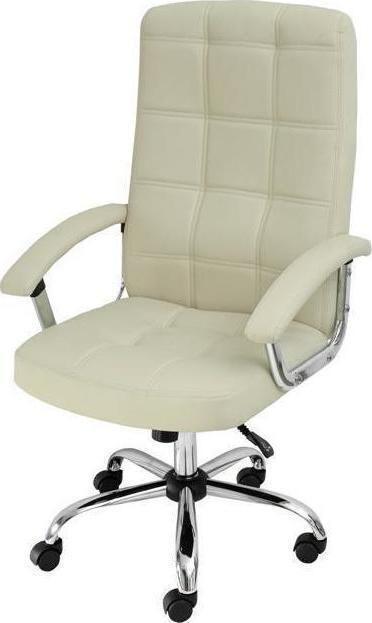 Πολυθρόνα γραφείου με δερματίνη VELCO 66-23522 Λευκή