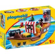Playmobil 1.2.3 - Pirate Ship (9118)